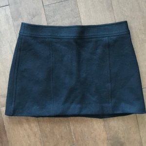 Theory Black Wool Blend Mini Skirt Size 8